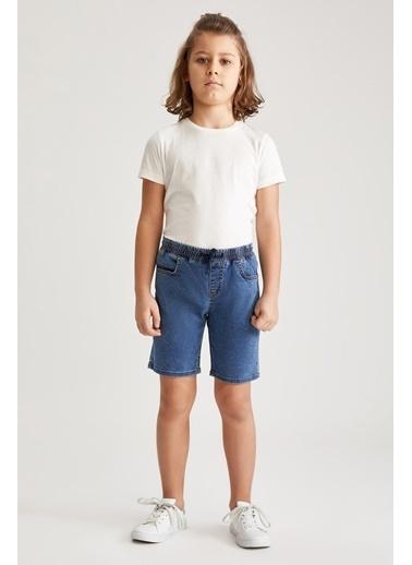 DeFacto Erkek Çocuk Regular Fit Jean Bermuda Şort Mavi